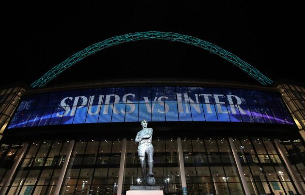 Tottenham Hotspur v Inter Milan - UEFA Champions League - Group B - Wembley Stadium