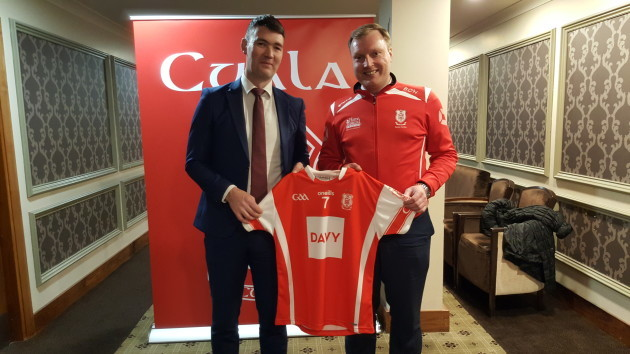 Cuala Hurling Manager Willie Maher & Barry O Halloran Chairman, Adult Hurling