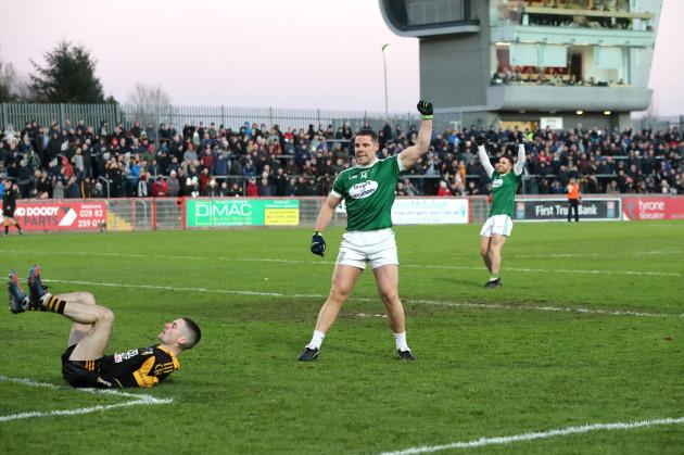 Caoimhon O'Casaide celebrates scoring