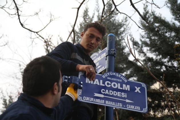 US Embassy Street Renamed Malcolm X Avenue - Ankara
