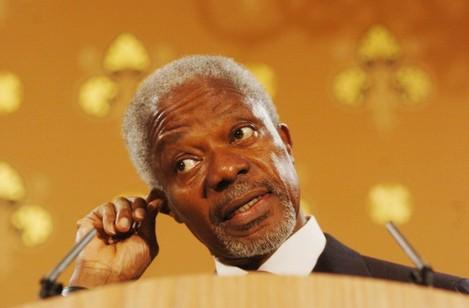 Kofi Annan - Press Conference - London