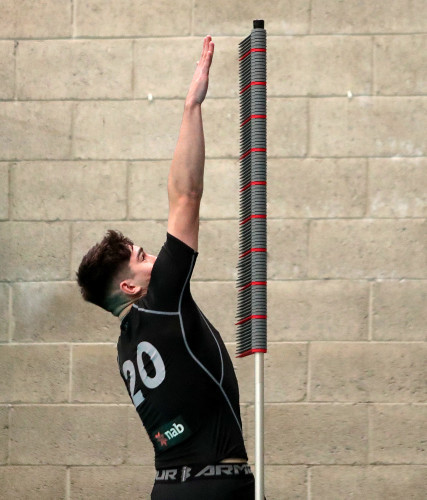 Cathal Horan during the vertical jump test
