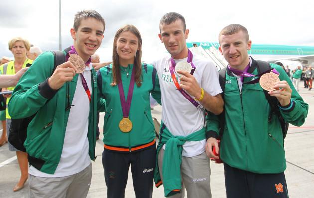 Michael Conlan, Katie Taylor, John Joe Nevin and Paddy Barnes