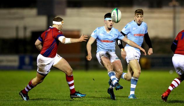 Peadar Collins kicks forward