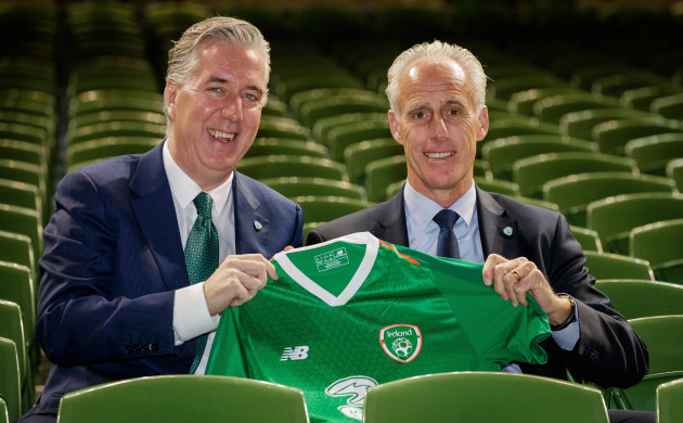 John Delaney with Mick McCarthy