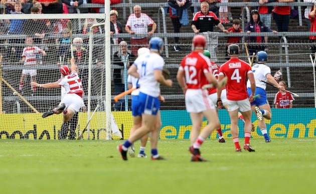 Michael Walsh scores a goal