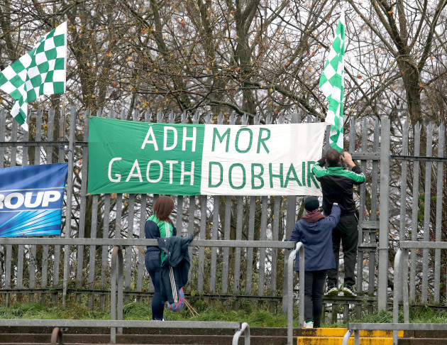 Gweedore supporters arrive at Healy Park