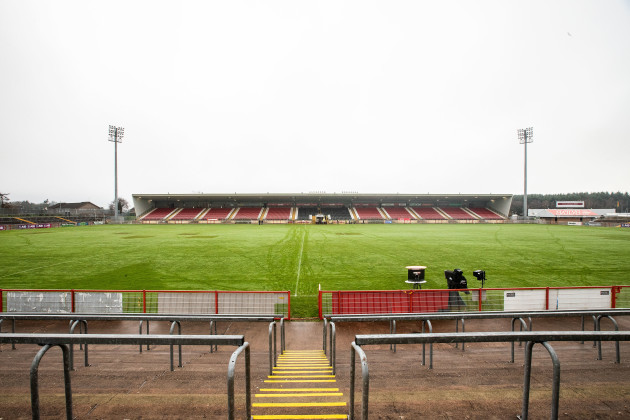 A general view of Healy Park