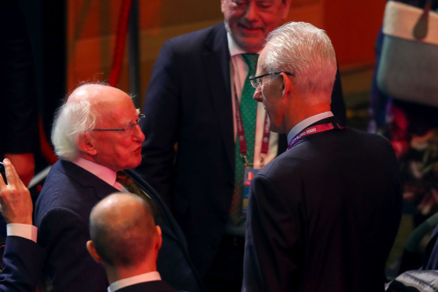 Michael D Higgins and Mick McCarthy