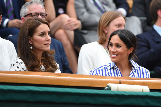 Duchess of Cambridge and Duchess of Sussex at Wimbledon