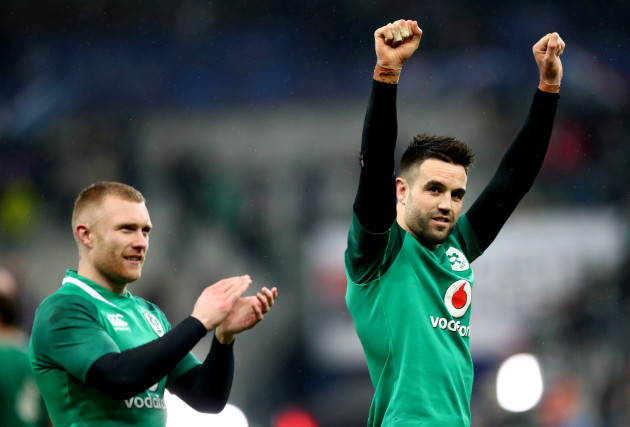 Keith Earls and Conor Murray celebrate