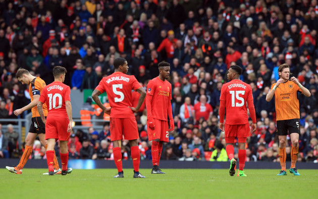 Liverpool v Wolverhampton Wanderers - Emirates FA Cup - Fourth Round - Anfield