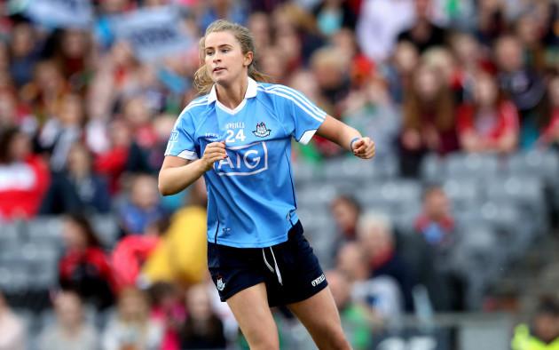 Sarah McCaffrey celebrates scoring