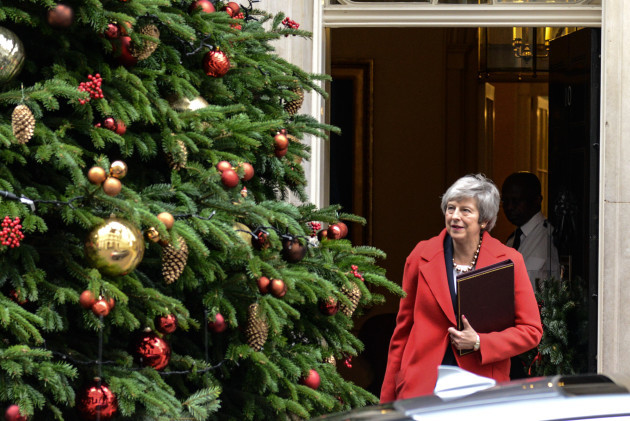 UK: Prime Minister Theresa May in Downing Street