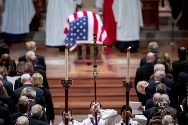 DC: State Funeral for Former President George H.W. Bush at the National Cathedral