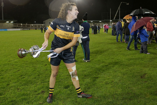 Brid O'Sullivan celebrates with the trophy