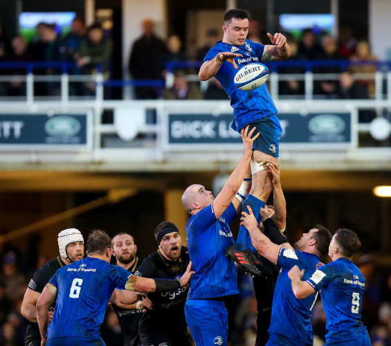 James Ryan claims a line out