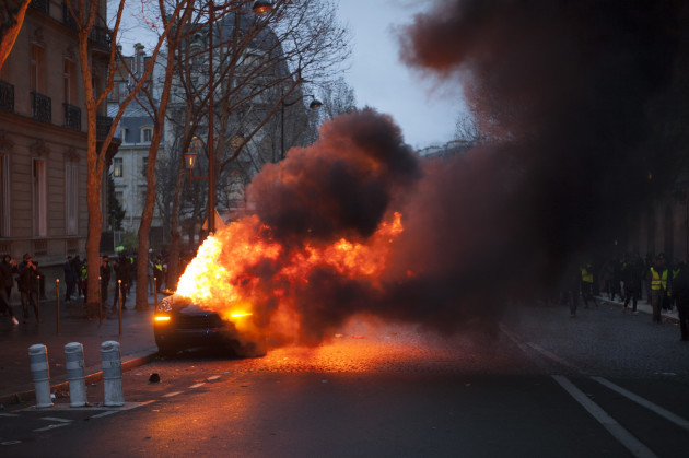 Police And ÔYellow VestsÕ Clash In Paris Protests