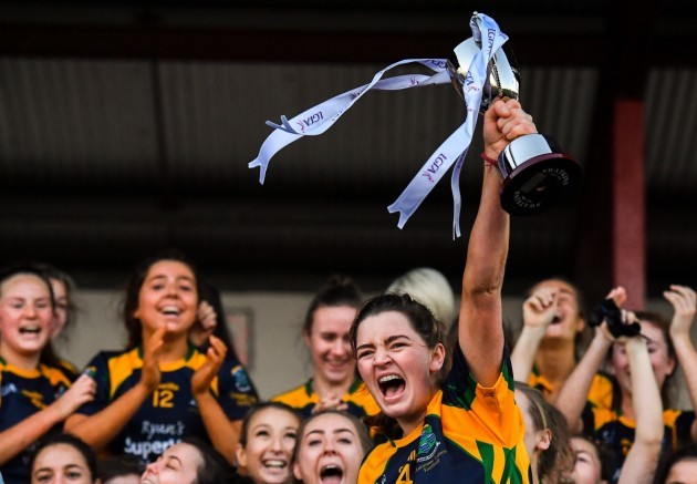Glanmire captain Amy Turpin cup lift