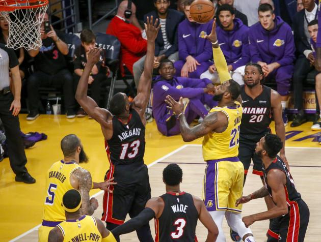 NBA: Los Angeles Lakers vs Miami Heat