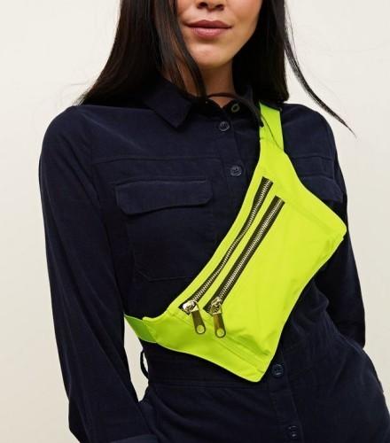 yellow-neon-triple-zip-bum-bag