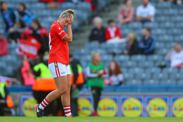 Saoirse Noonan dejected
