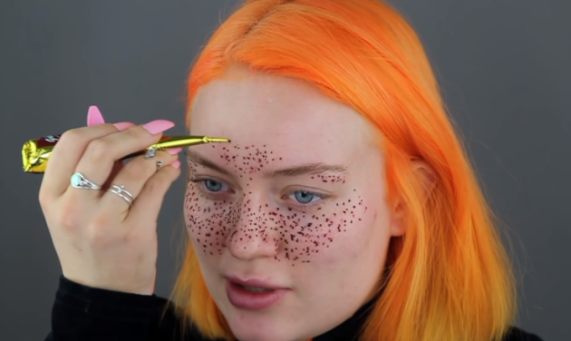 A Youtuber Tried To Give Herself Henna Freckles And Obviously It