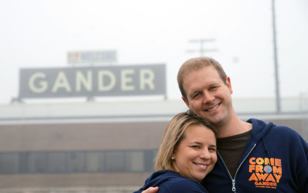Writers Irene Sankoff and David Hein at Gander Airport Image 1