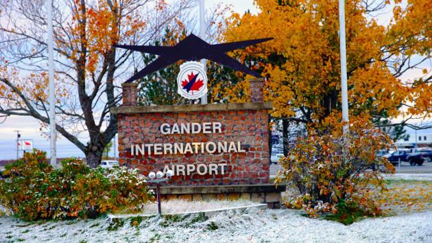 CFA Gander International Airport Sign -RT