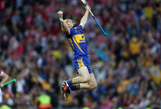 Patrick Kelly celebrates his side's final goal