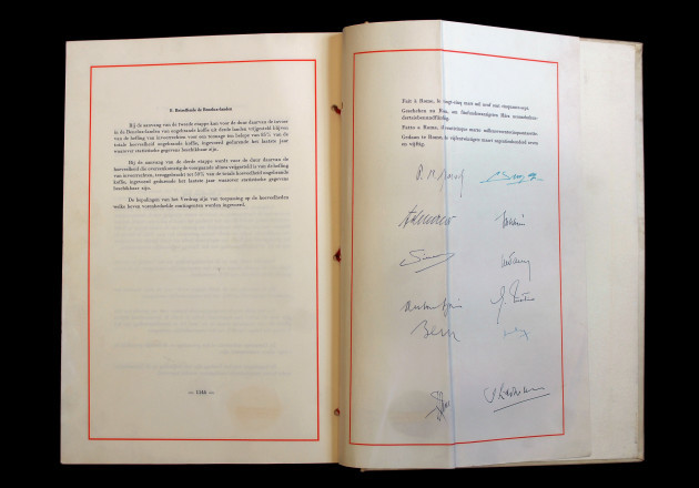Rome Treaty's 60th anniversary - The Original Treaty Kept At Italian Ministry Of Foreign Affairs