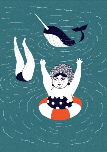 beach-body-narwhal-tara-obrien-jam-art-prints-495x700