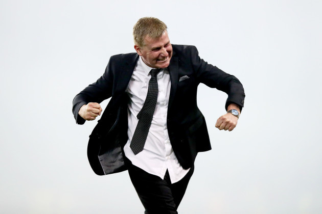 Stephen Kenny celebrates at the final whistle