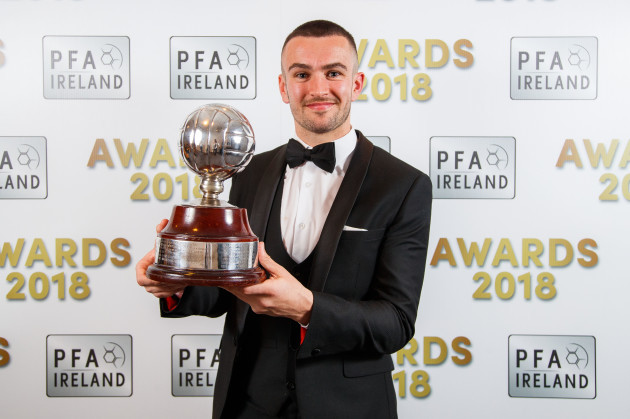 Michael Duffy with the Player's Player of the Year Award
