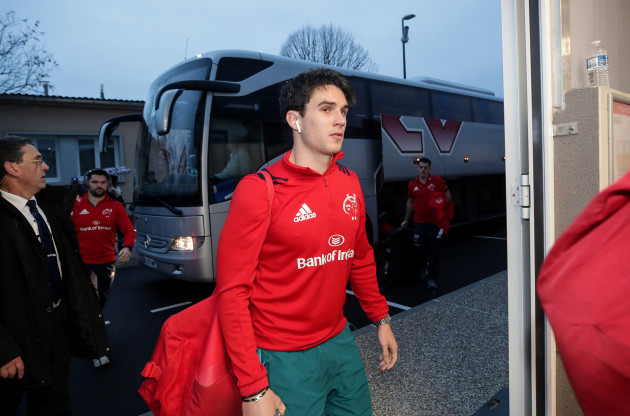 Joey Carbery arrives