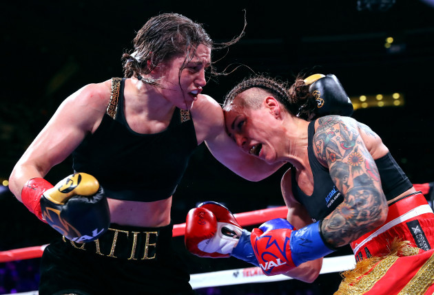 Katie Taylor in action against Eva Wahlstrom