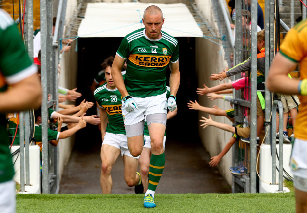 Kieran Donaghy takes to the field