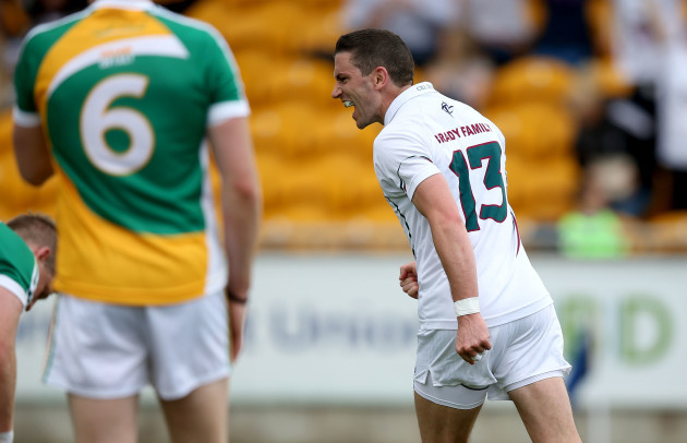Eamonn Callaghan celebrates Eoghan O'Flaherty's goal