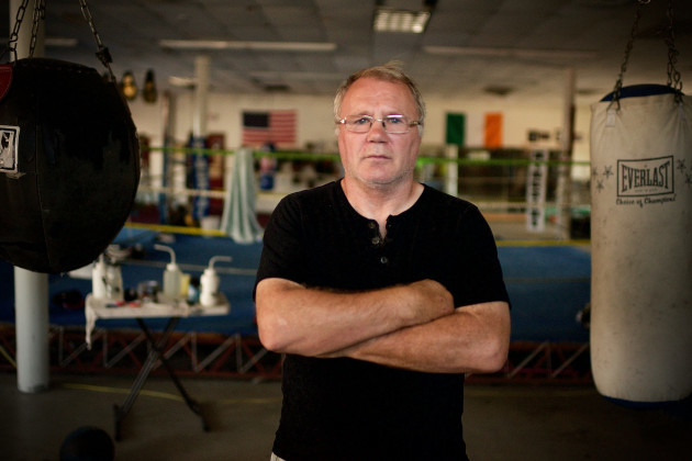 Sean Mannion today in Grealish Boxing Gym, Boston