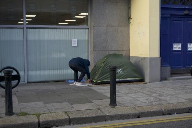 IRELAND-DUBLIN-HOMELESS PEOPLE