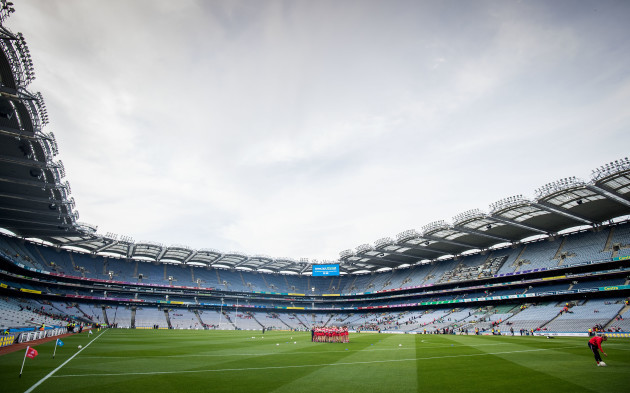 A view of Croke Park ahead of today's games