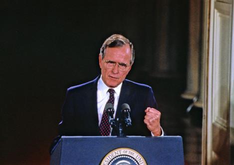 George H.W. Bush Press Conference