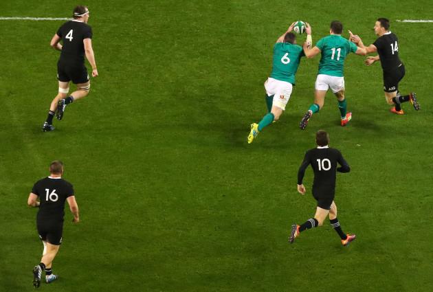 Peter O'Mahony makes a vital interception