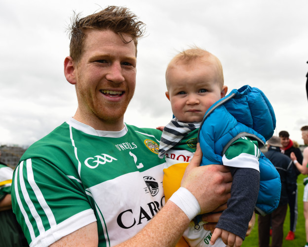 Brian Darby with a young fan
