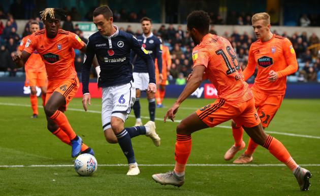 United Kingdom: Millwall v Ipswich Town - Sky Bet Championshi