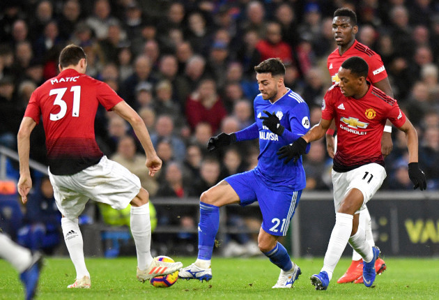 Cardiff City v Manchester United - Premier League - Cardiff City Stadium