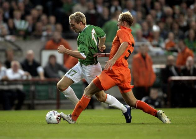 Alan O'Brien of Ireland and Tim de Cler of Holland
