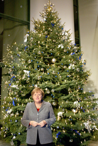 Christmas trees for the Chancellor Angela Merkel