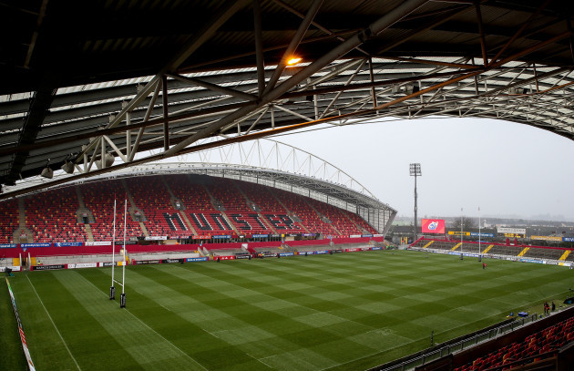 A view of Thomond Park ahead of the game