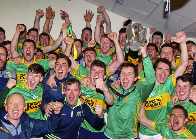 John Devane celebrates with his players